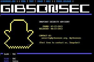 """La empresa Gibsonsec, encargada de la seguridad de la app, publicó en diciembre de 2014 que más de 40 mil cuentas habían sido """"hackeadas"""" y que se trabajaba en los fallos. Foto:gibsonsec.org/snapchat/. Imagen Por:"""