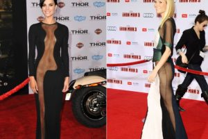 Este vestido transparente. El horror. Foto:Getty Images. Imagen Por: