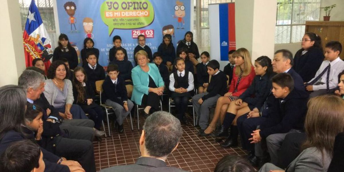 Presidenta lanza campaña que recogerá las opiniones de niños para nueva política nacional de infancia