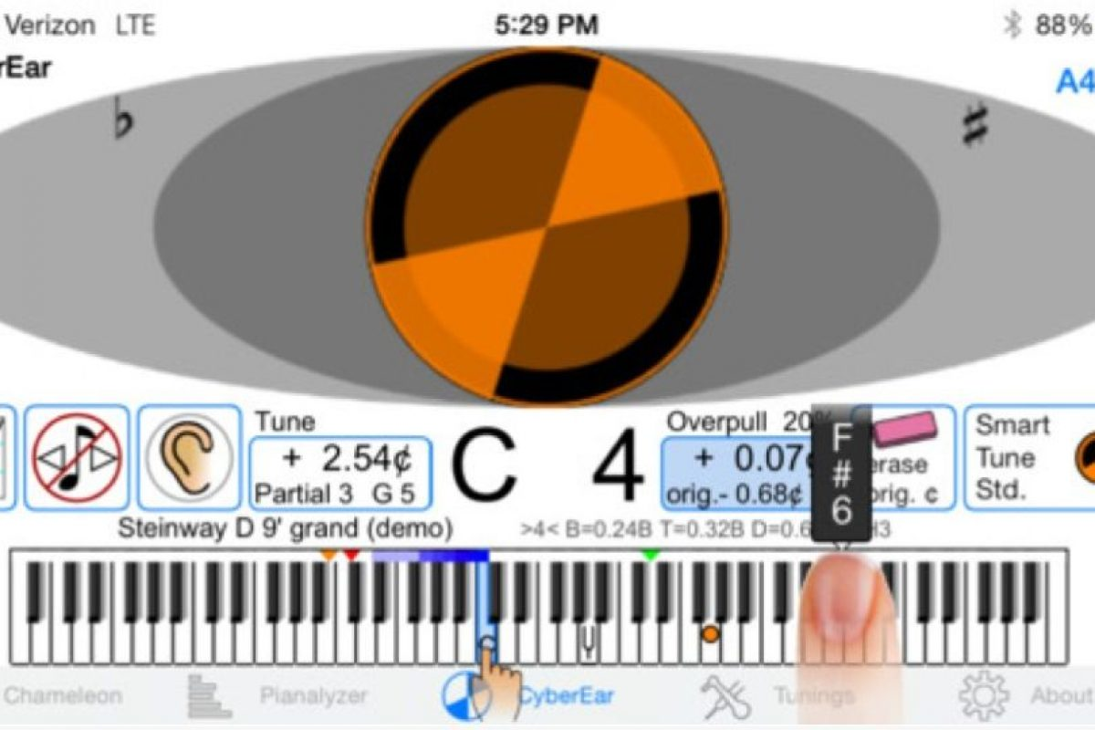 CyberTuner – 999.99 dólares. Foto:Reyburn Piano Service, Inc.. Imagen Por: