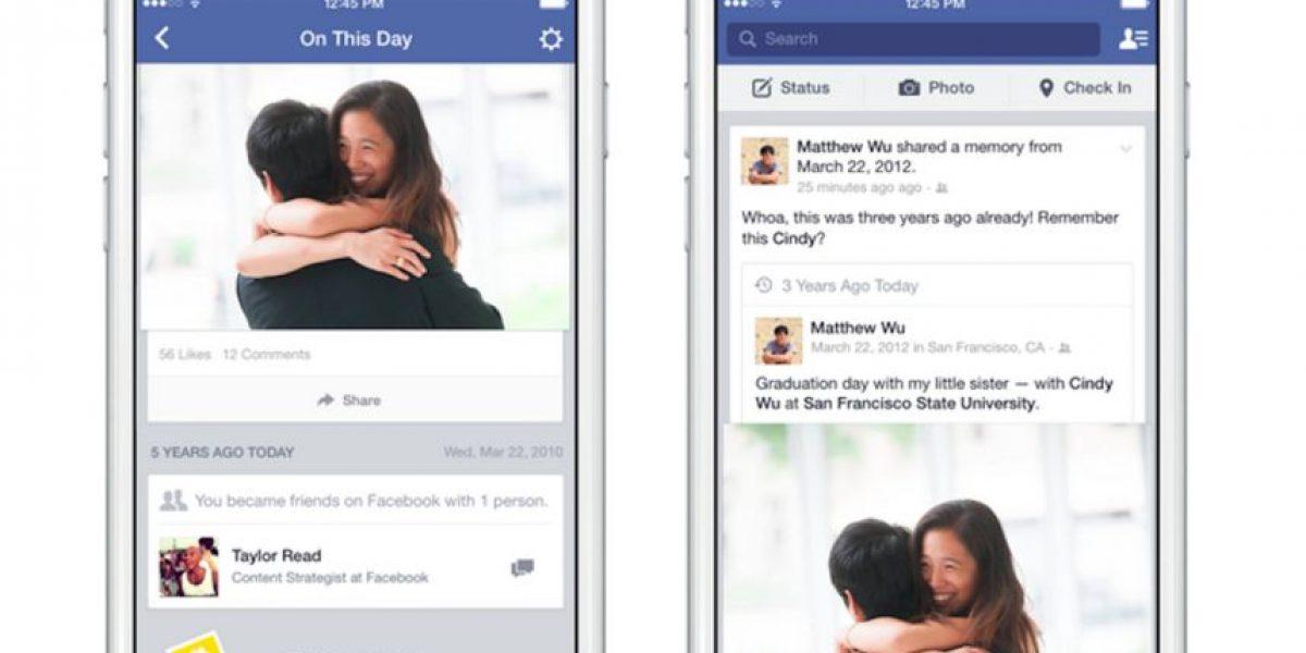 Facebook los pondrá nostálgicos con su nueva función