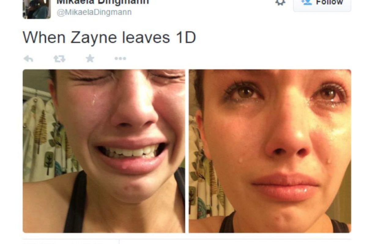 La que llora y muestra sus sentimientos ante una red social que se burlará de ella. Foto:Twitter. Imagen Por: