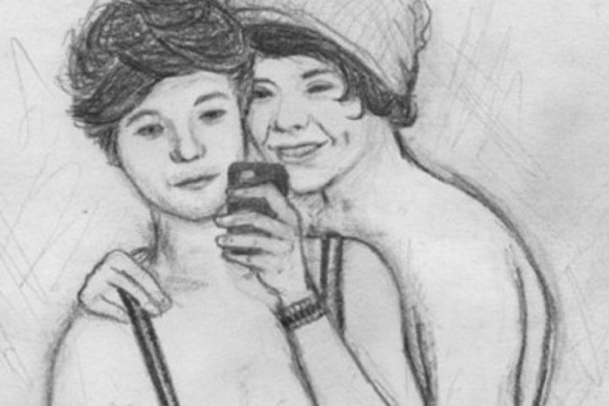 La que dibuja a Harry y a Tomlinson teniendo interacciones gay. Foto:Deviantart. Imagen Por: