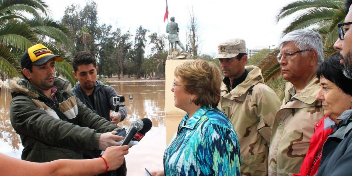 Tragedia en el Norte: Bachelet hace enérgico llamado a poner fin a la especulación de precios
