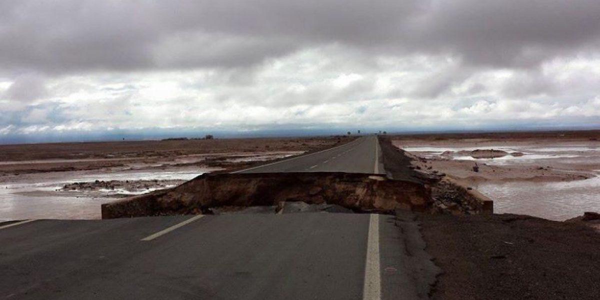 Impactante: así quedó el principal acceso de ingreso a una de las comunas más golpeadas por temporal