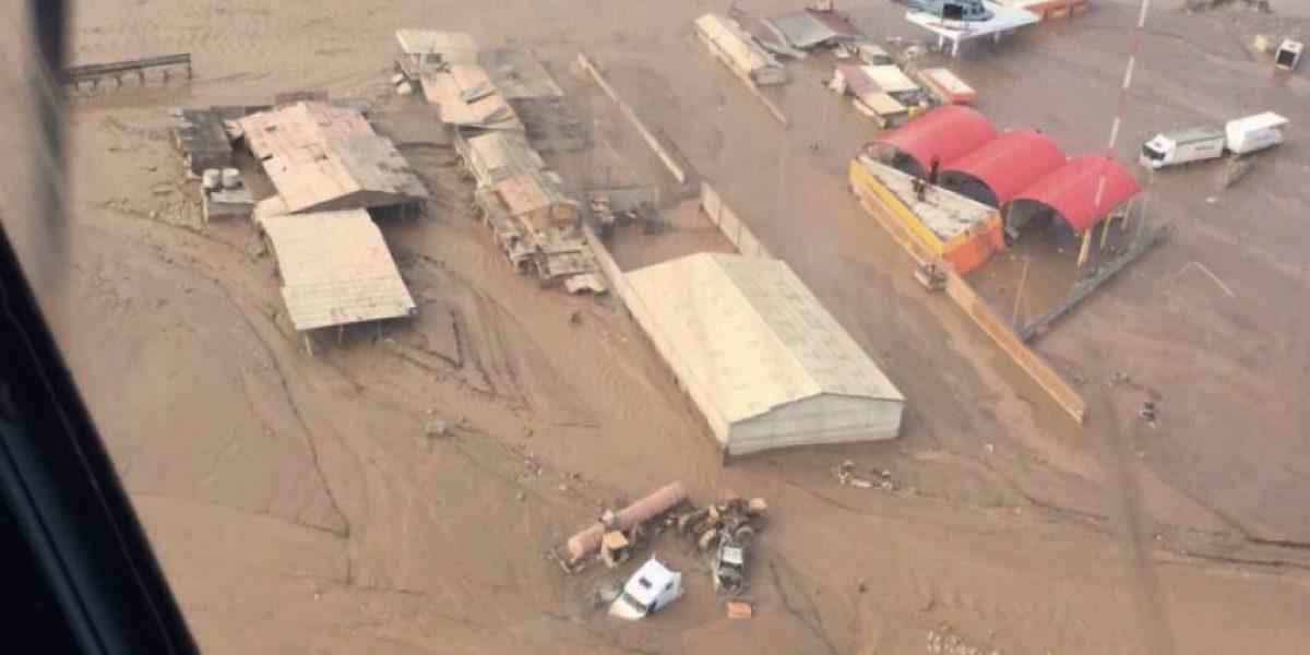 La devastación en el norte vista desde el aire