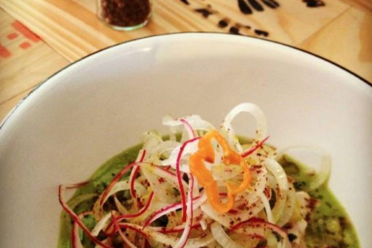 Green fresh white ceviche, un de las formas de preparar ceviche en La Fisheria, el restaurante de Aquiles. Foto:La Fisheria. Imagen Por: