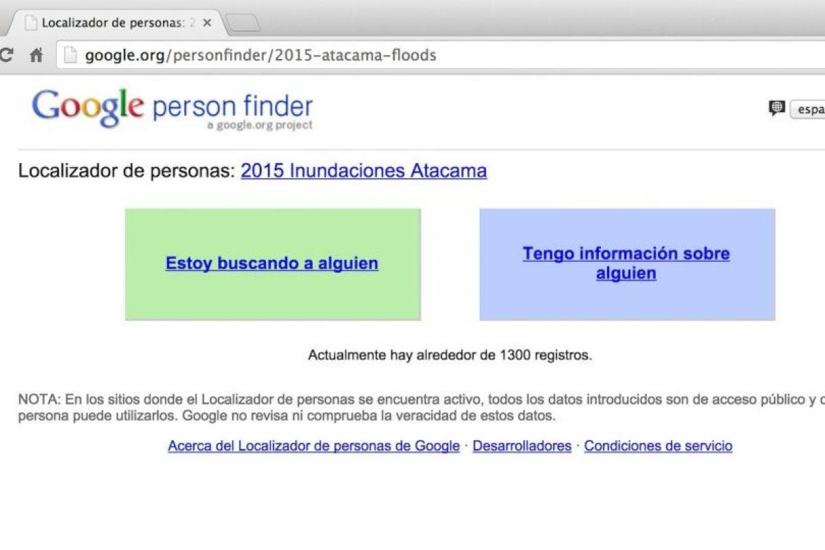 Google activó su servicio de búsqueda de personas. Foto:Google. Imagen Por: