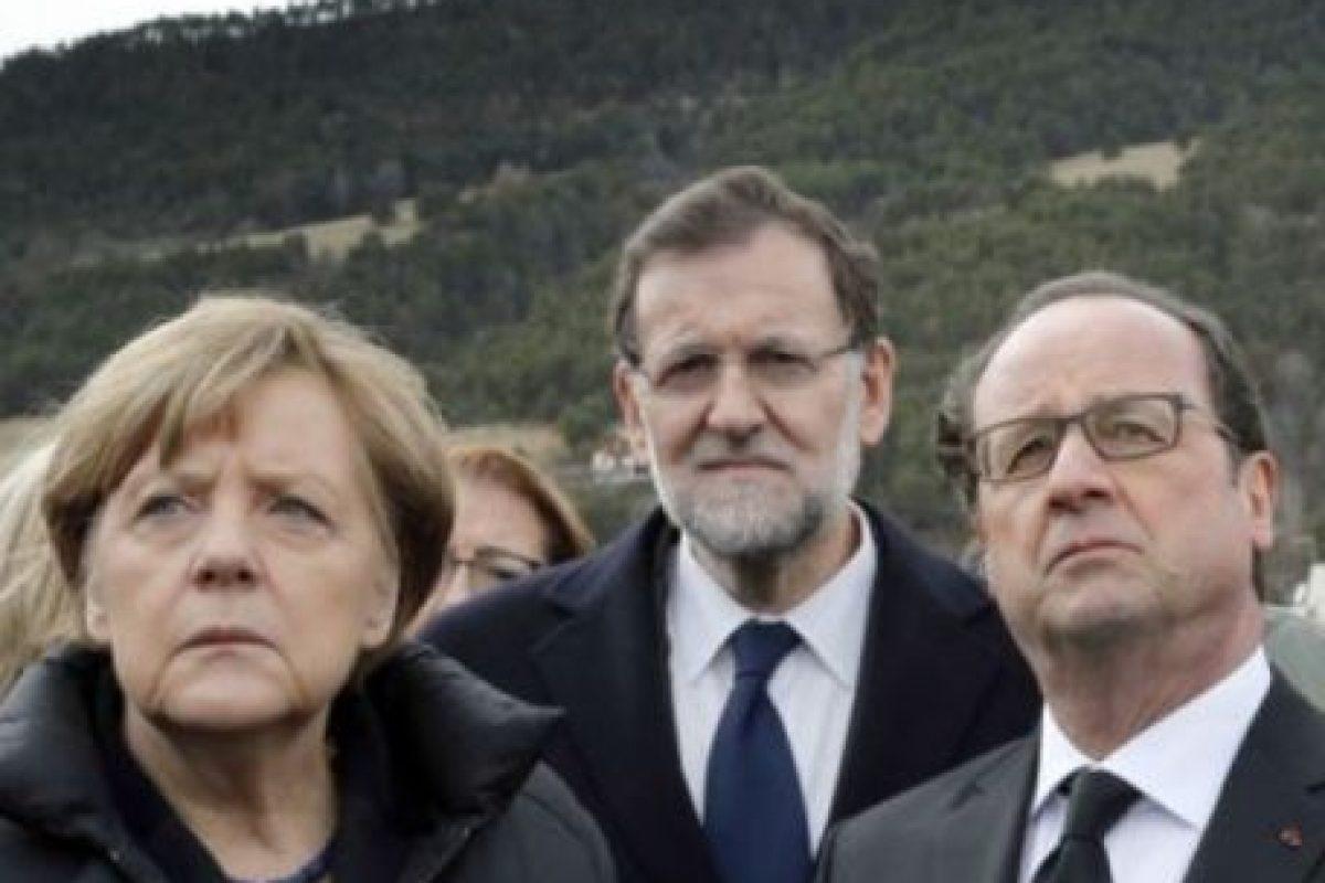 Los mandatarios de Alemania, Francia y España acudieron al lugar de la tragedia Foto:AFP. Imagen Por: