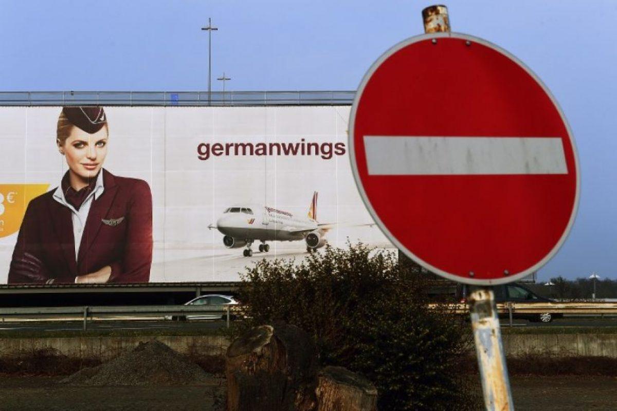 Anuncio de la aerolínea Germanwings al oeste de Alemania Foto:AFP. Imagen Por:
