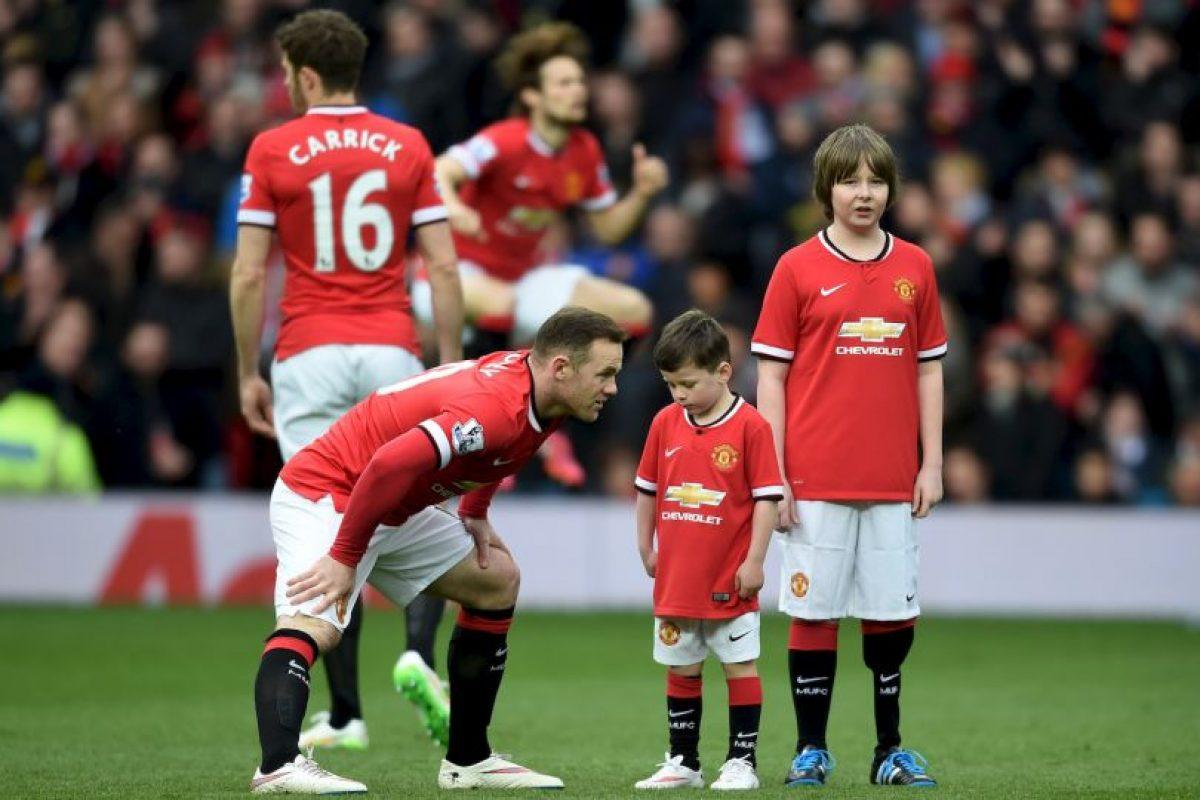 Pero su hijo lo imitó en la escuela, mientras la pareja de Rooney lo veía Foto:Getty Images. Imagen Por: