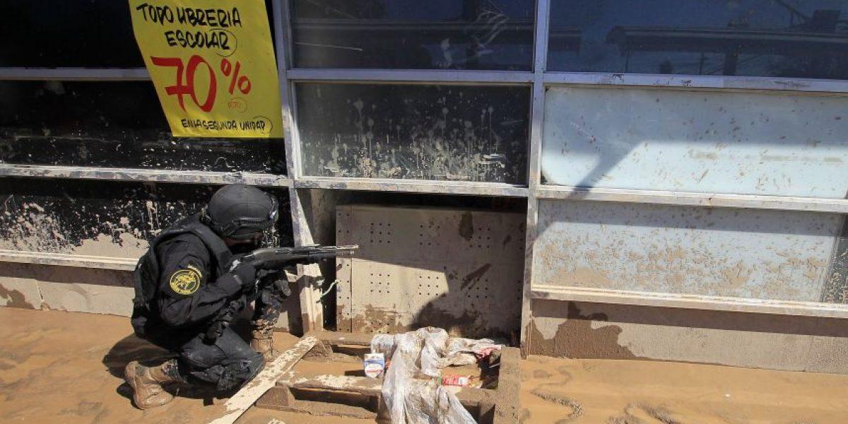 Así fue operativo policial en supermercado de Copiapó tras intento de saqueo