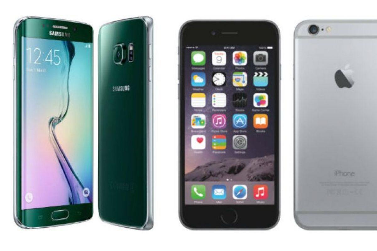 Batería del Samsung Galaxy S6 Edge tiene mayor rendimiento que la del iPhone 6 Plus. Foto:Samsung / Apple. Imagen Por: