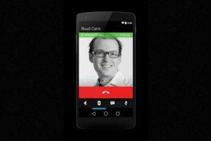 Así se ve la pantalla cuando están en una conversación. Foto:Android World. Imagen Por:
