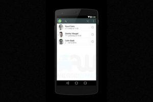 De esta forma se ven los contactos en la app. Foto:Android World. Imagen Por: