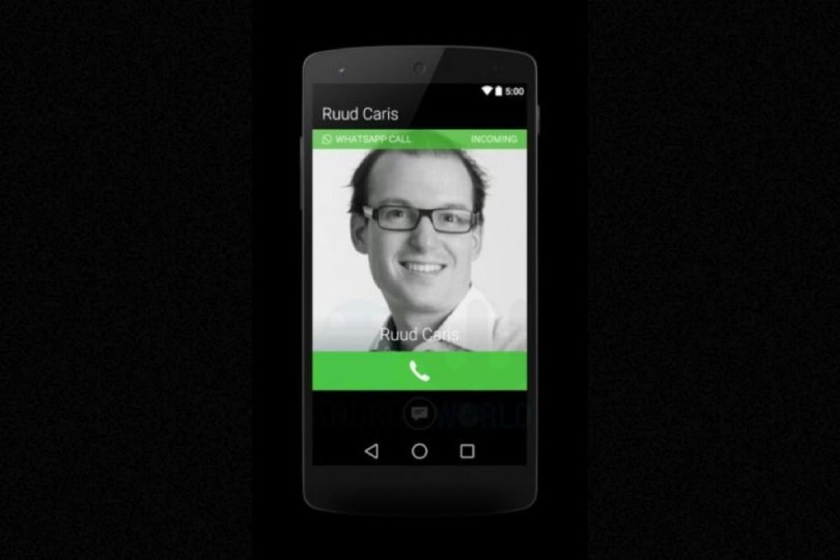 La pantalla cuando están llamando a un contacto. Foto:Android World. Imagen Por: