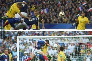 El gol de Varane es comparado con el de Zinedine Zidane en la final de Francia 1998 Foto:Memedeportes. Imagen Por: