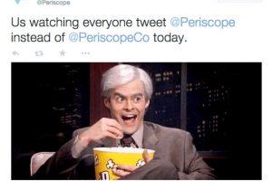 Al día de hoy, el Twitter de Periscope cuenta con 11 mil seguidores. Foto:Twitter @Periscope. Imagen Por:
