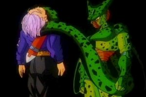 En un futuro alternativo Cell mataba a Trunks, extinguiendo así la raza de los saiyajin. Foto:Toei. Imagen Por: