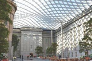 En la foto: El Patio Kogod, en la Galería Nacional de Retratos y el Smithsonian American Art Museum Foto:Tim Evanson / Flickr. Imagen Por: