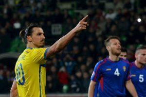 Suecia derrotó 2-0 a Moldavia con doblete de Zlatan. Foto:AFP. Imagen Por: