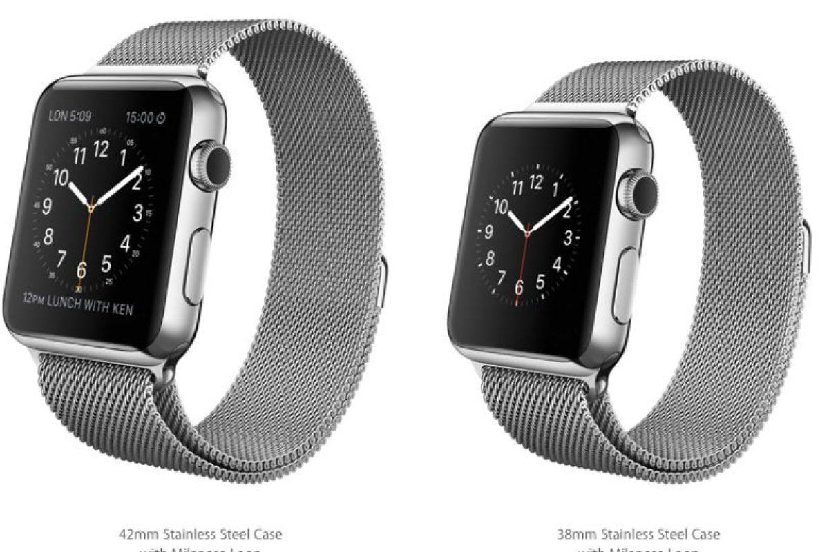 """Con banda """"Milanese Loop"""". Foto:Apple. Imagen Por:"""