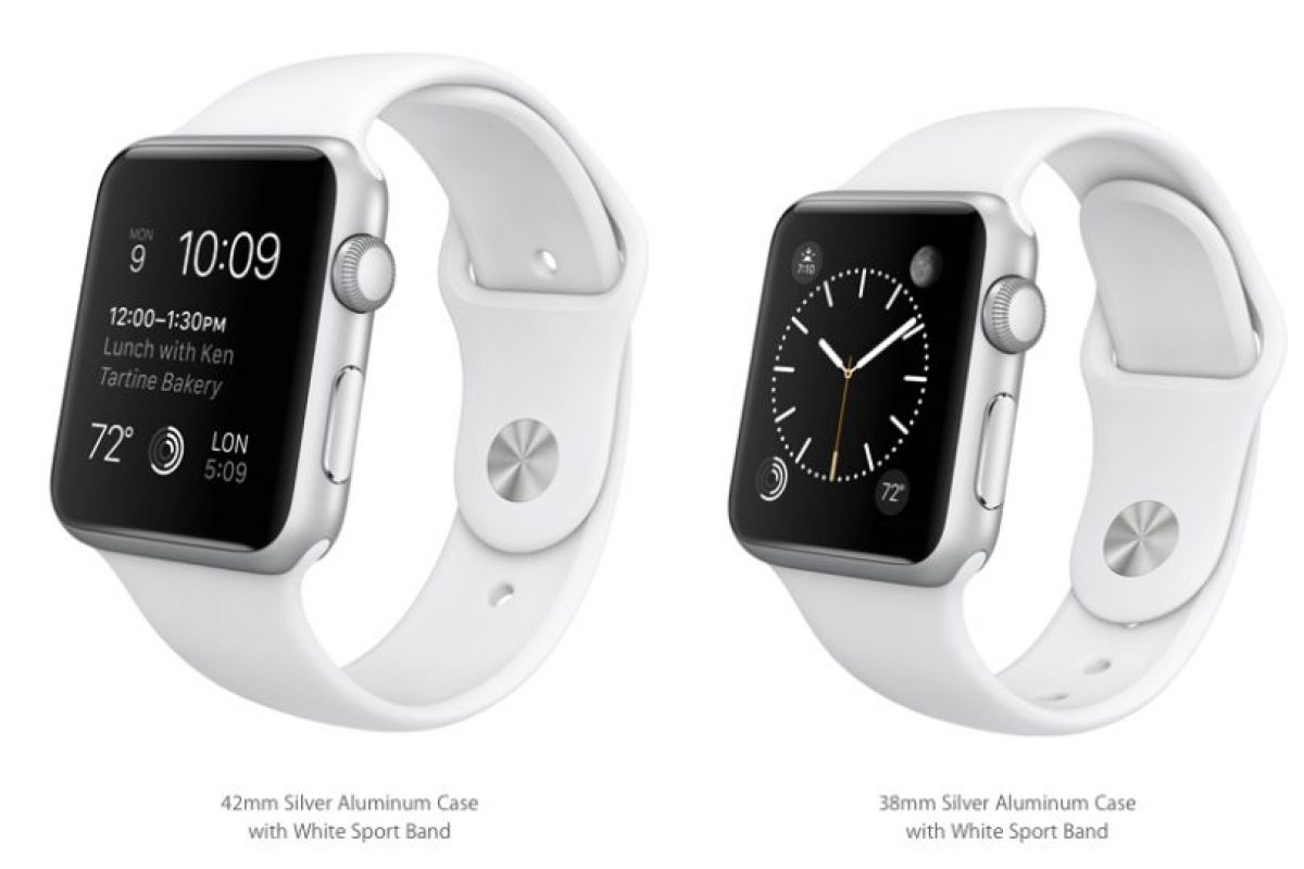 El Apple Watch Sport contará con versiones en 42 y 38mm. Su precio va desde los 350 a los 400 dólares. Foto:Apple. Imagen Por: