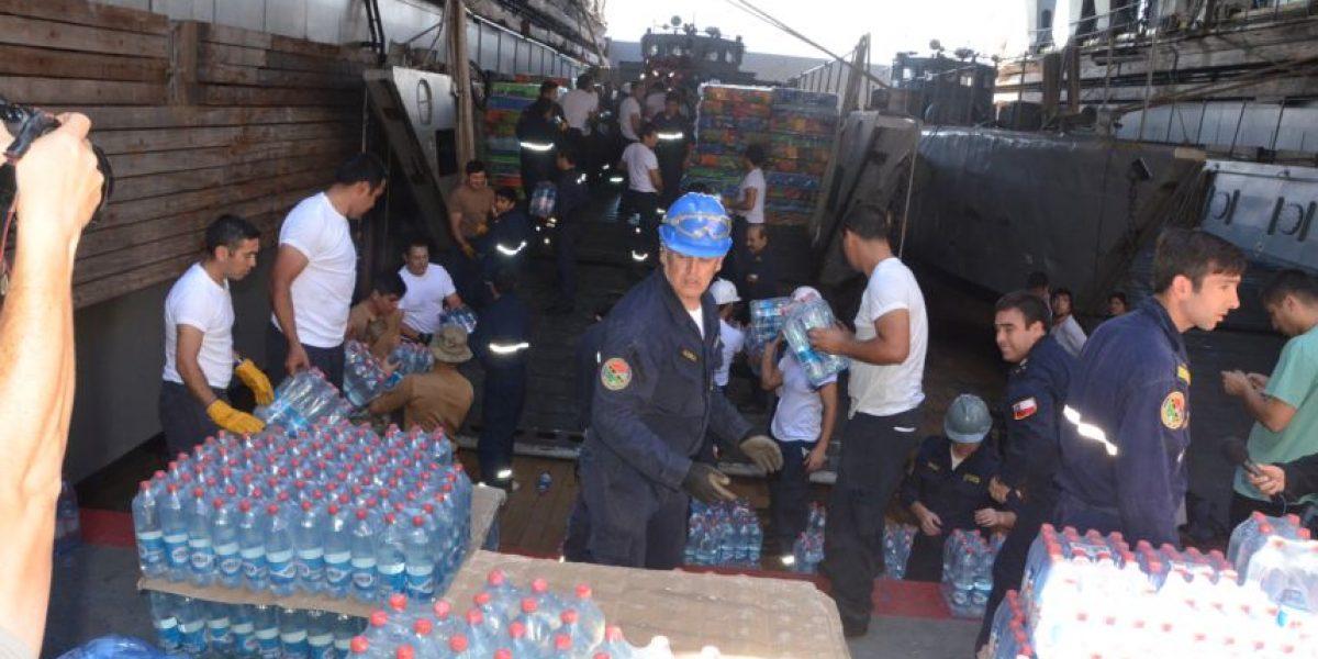 Más de 600 toneladas de ayuda humanitaria llegan a Chañaral