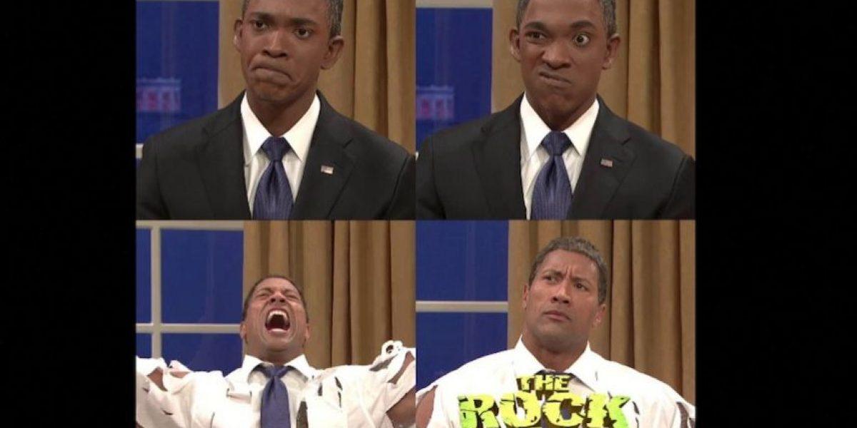 VIDEO: La Roca mostró el lado más furioso del presidente Barack Obama