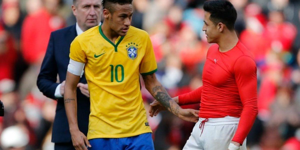 Pura buena onda: El reencuentro de Alexis Sánchez y Neymar