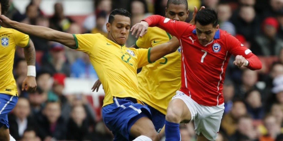 Chile no se tomó revancha de Brasil y terminó su gira con dos derrotas
