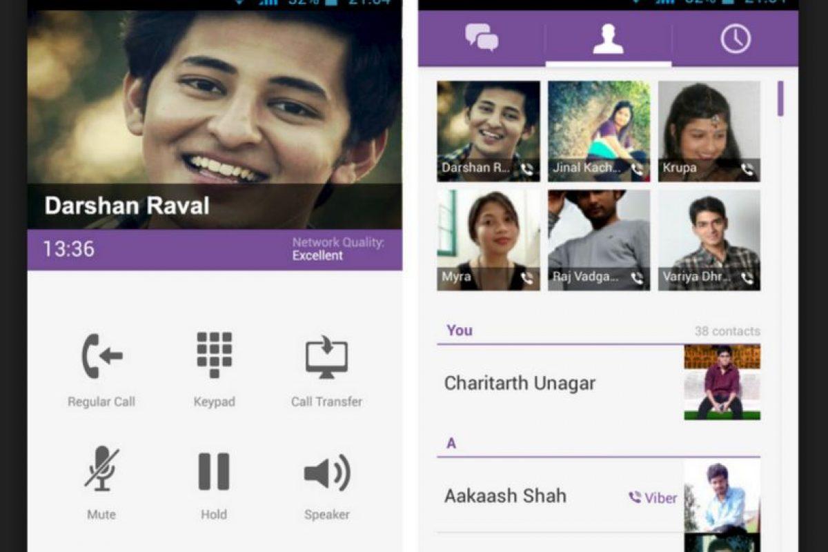 Viber también es de los más importantes competidores de WhatsApp. Las llamadas gratuitas por Internet son una característica principal en su servicio. Foto:Google. Imagen Por: