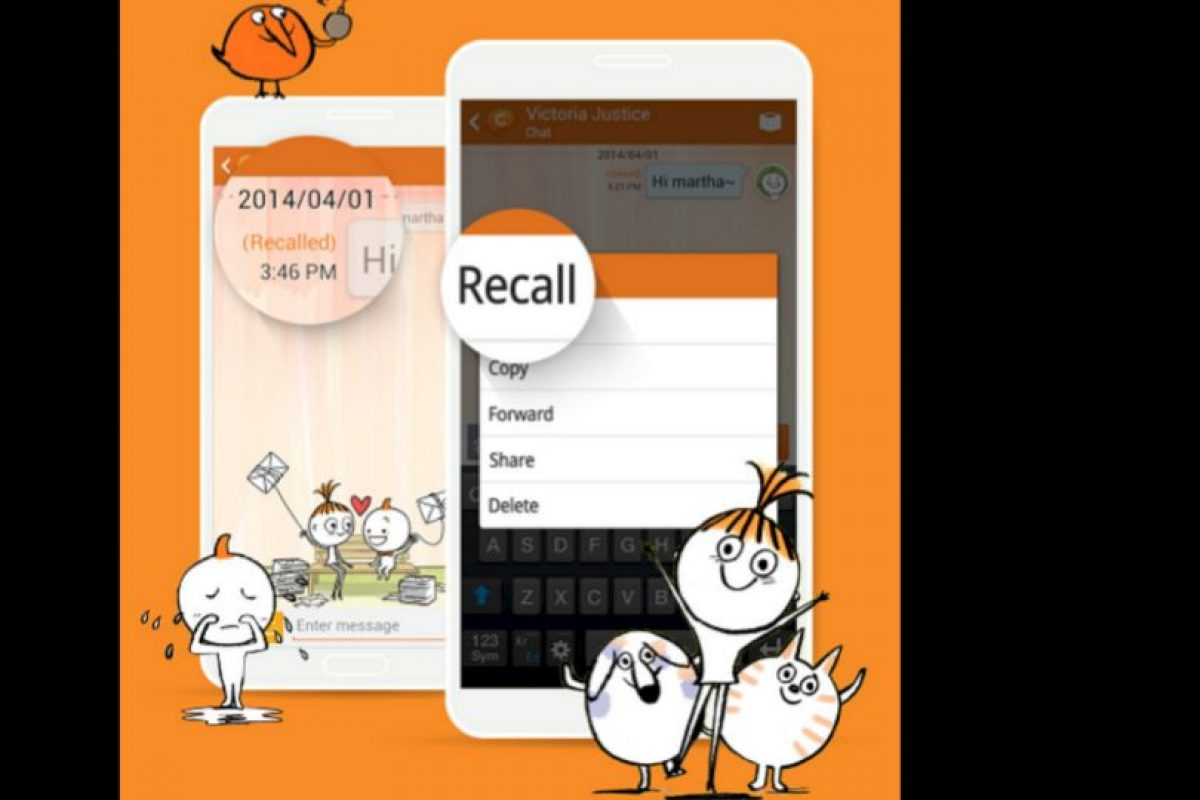 ChatOn es una opción para Android que tiene una opción de recall programado por días. Foto:Samsung Electronics Ltd.. Imagen Por: