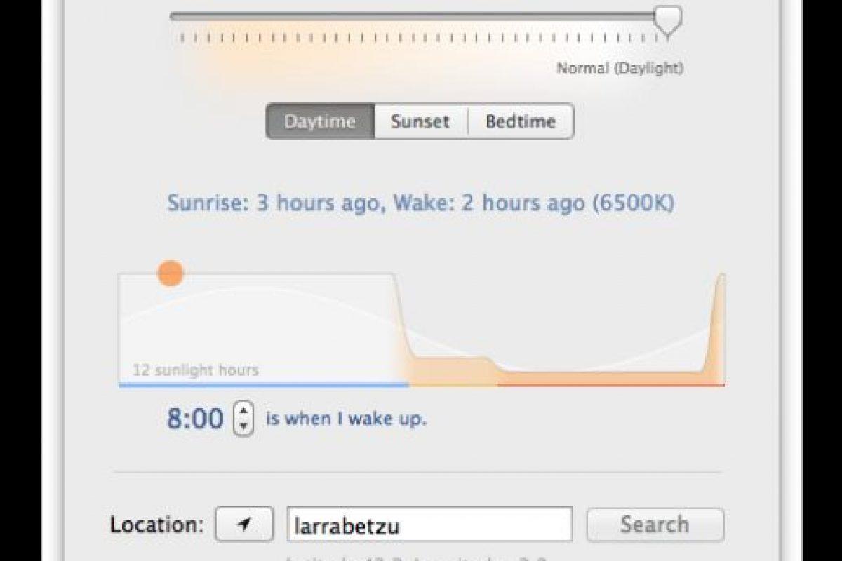 F.Lux es un display que ajusta el brillo de la pantalla del computador según el horario del día. Foto:justgetflux.com. Imagen Por: