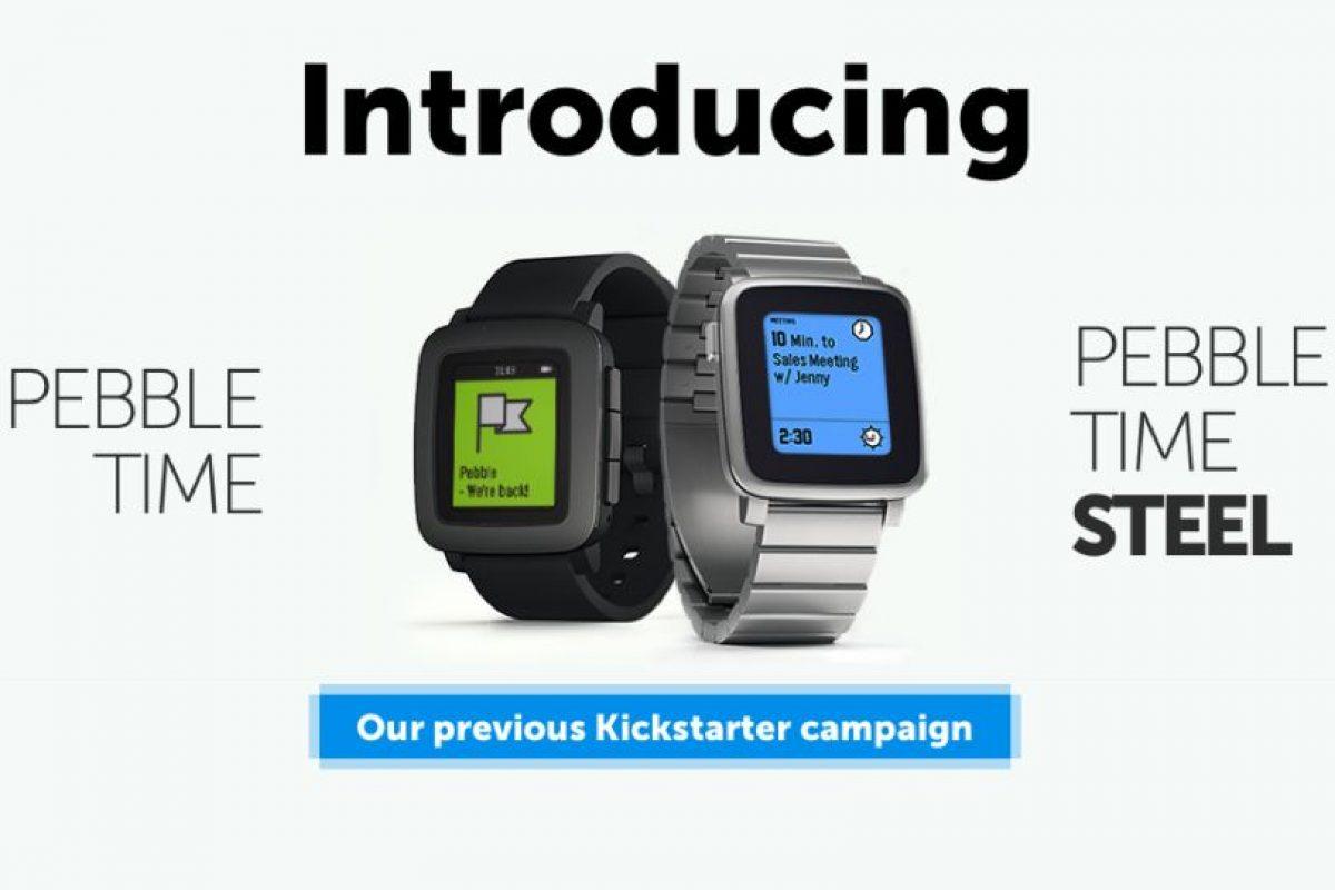 Pebble Watch fue el primer modelo de esta compañia. Foto:Pebble. Imagen Por: