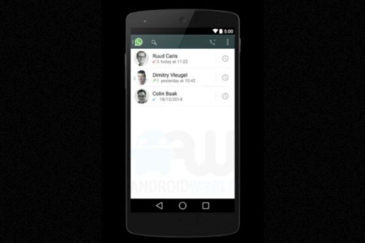 La opción para ver los registros de llamadas. Foto:Android World. Imagen Por: