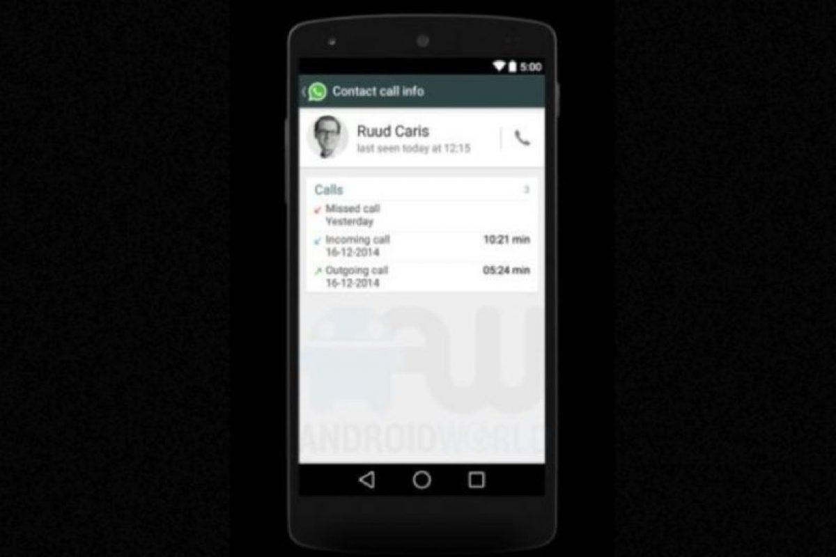 Registros de llamadas específicos de un usuario. Foto:Android World. Imagen Por: