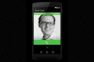 Así se ve la pantalla cuando están llamando. Foto:Android World. Imagen Por: