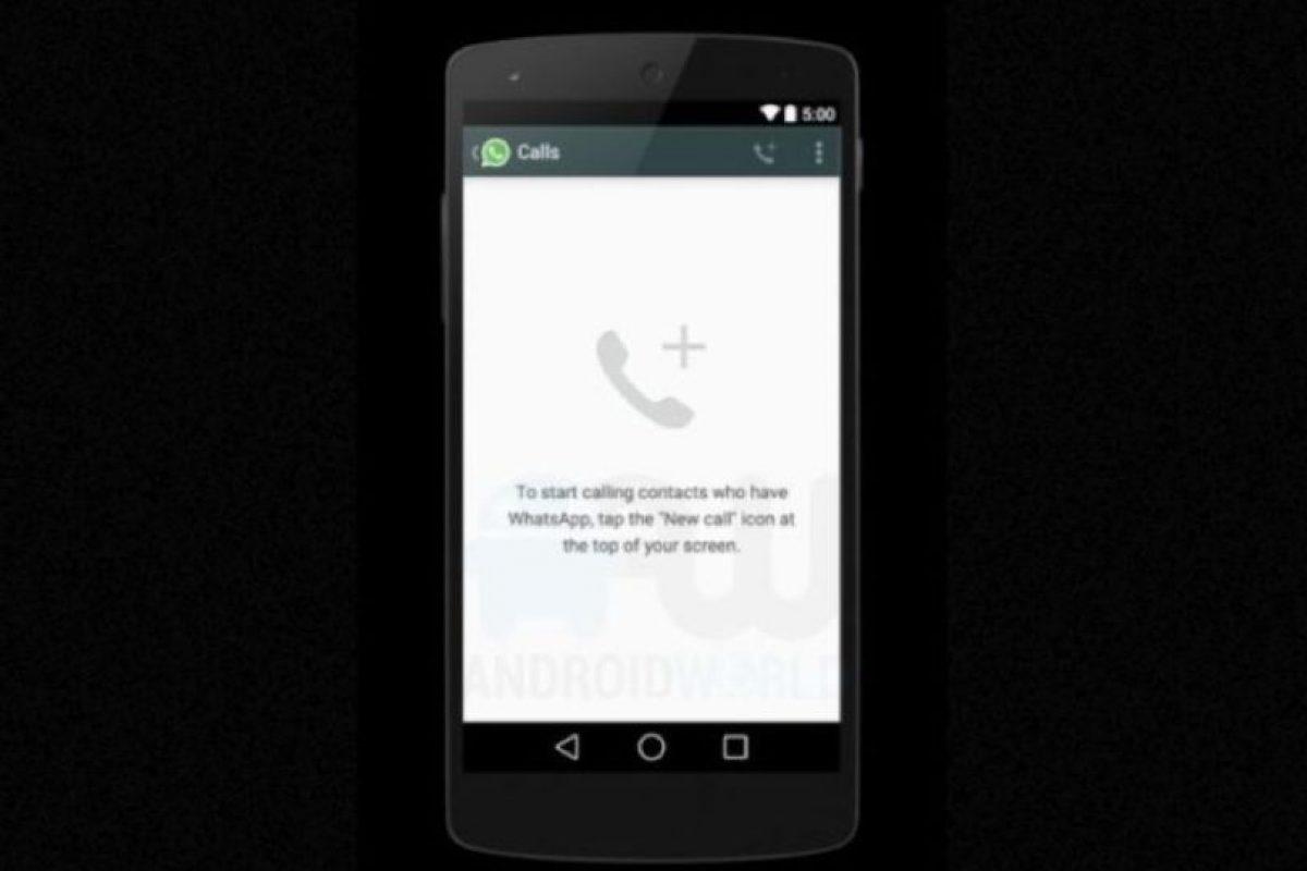 La pantalla cuando no han realizado llamadas. Foto:Android World. Imagen Por: