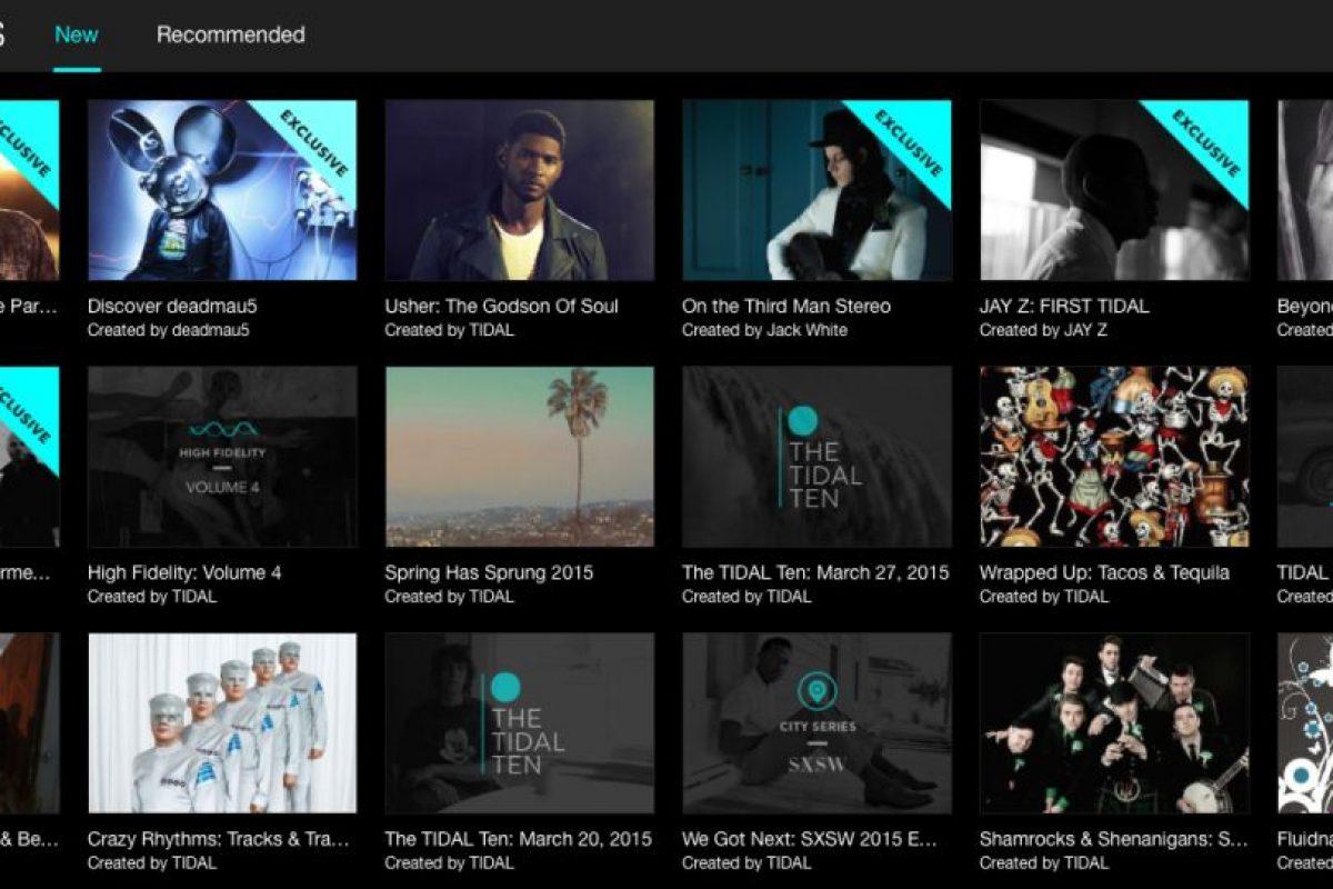 Tidal cuenta con 25 millones de canciones en su catálogo. Foto:tidal.com. Imagen Por: