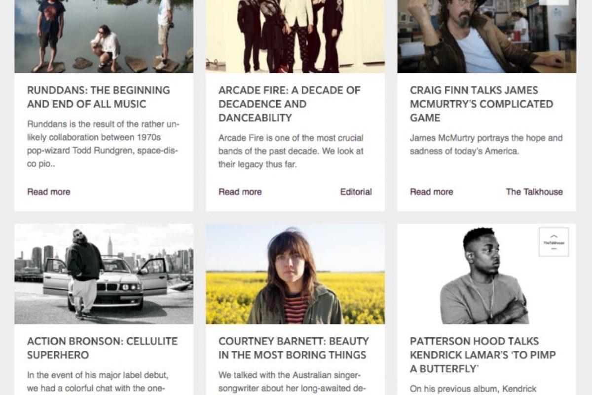 Sin embargo, Tidal también ofrece opinión especializada sobre tu música favorita. Foto:tidal.com. Imagen Por: