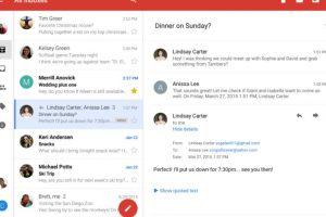 Así lucirá el Gmail en Android Foto:Google. Imagen Por: