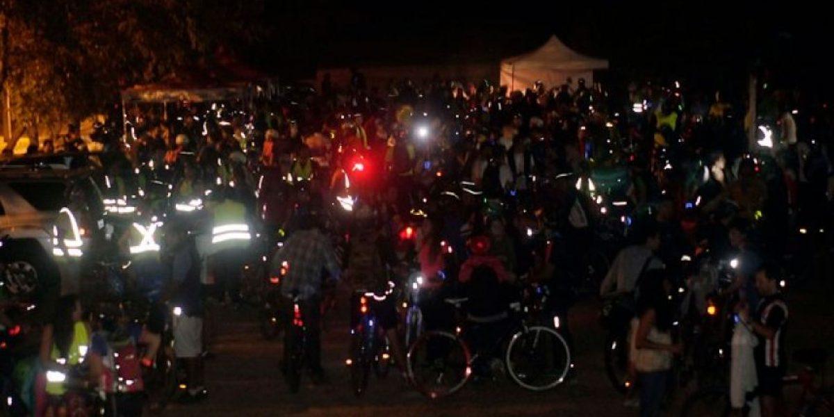 Cicletada nocturna para inaugurar  acceso norte al Parquemet