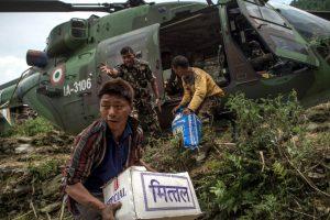Abordo iban dos soldados nepaleses y seis marines. Foto:Getty Images. Imagen Por: