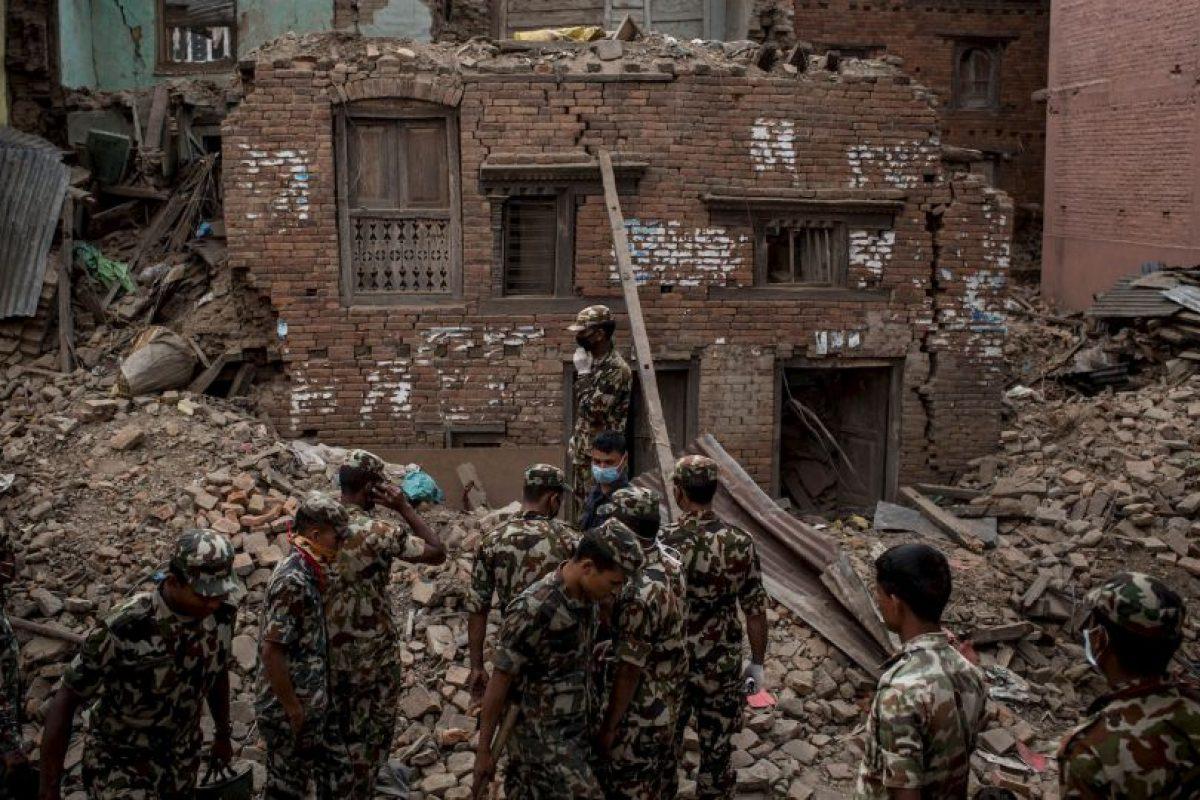 Nepal volvió a ser víctima de un terremoto, esta vez con una magnitud de 7.3 grados en escala Richter. Foto:Getty Images. Imagen Por: