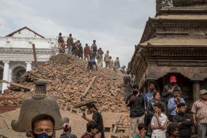 6. Lamjung, Nepal. 25 de abril. Magnitud 7.8. Este es el más fuerte de los últimos 30 días. Foto:Getty Images. Imagen Por: