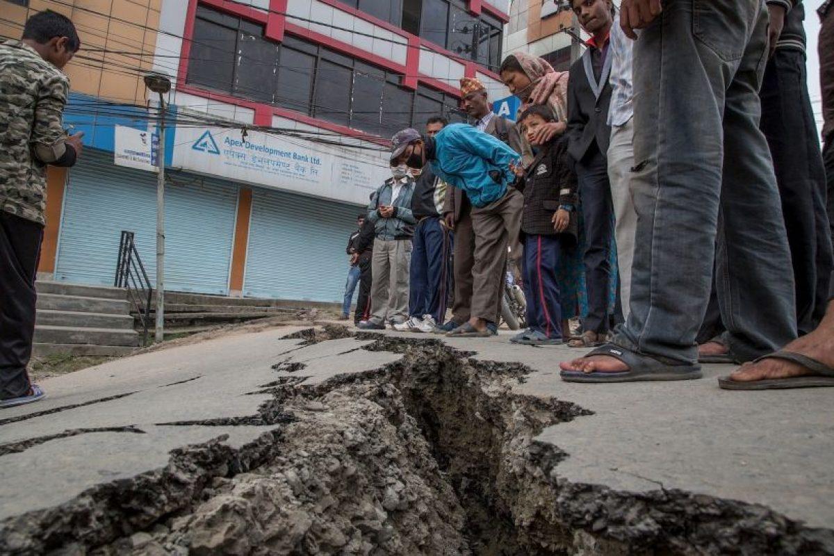 7. Lamjung, Nepal. 25 de abril. Magnitud 6.6 Foto:Getty Images. Imagen Por: