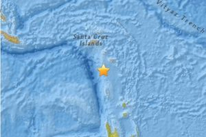 4. Islas Solomon. 22 de abril. Magnitud 6.3 Foto:Earthquake.usgs.gov. Imagen Por: