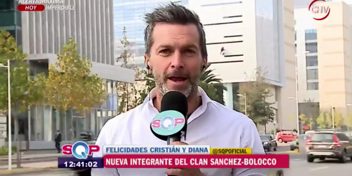 Cristián Sánchez presentó a su pequeña Gracia en sociedad