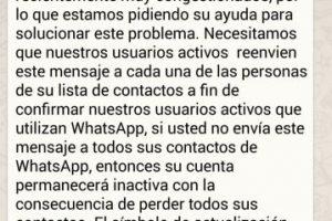 Mito: Si no envían el mensaje, WhatsApp los eliminará de su app. Foto:Tumblr. Imagen Por: